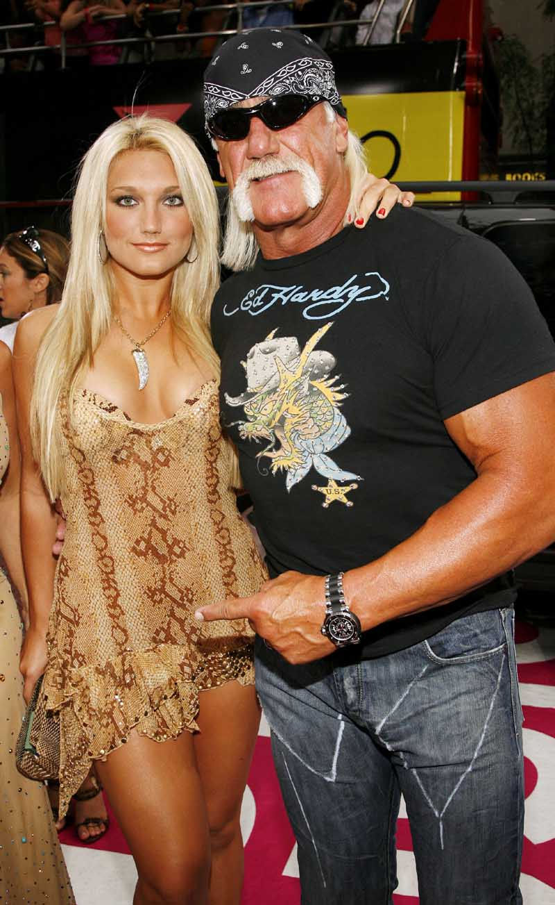 Brooke Hogan with her dad Hulk Hogan