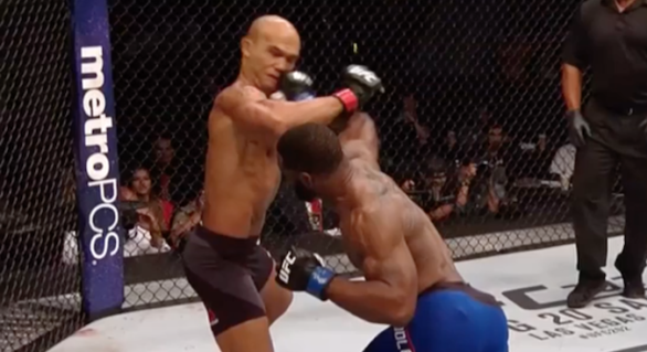 Woodley Knocks Out Lawler: One Setup One Punch
